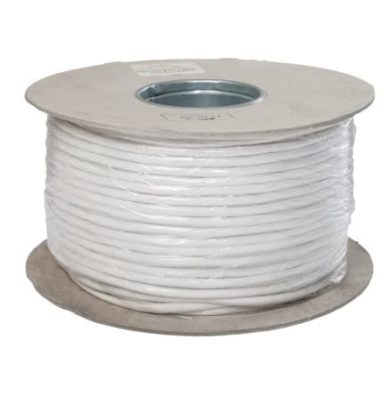 Kabel CABS4 100 PD 2x0,50 + 2x0,18, 100 m vit skärmad och partvinnad kabel