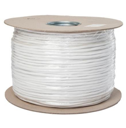Kabel CABS4 300 PD 2x0,50 + 2x0,18, 300 m vit skärmad och partvinnad kabel