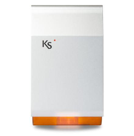 Utomhussiren imago bus grå/orange med batteri