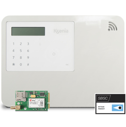 Centralapparat lares 4.0 WLS 96 inbyggd MP & 3G-modul vit