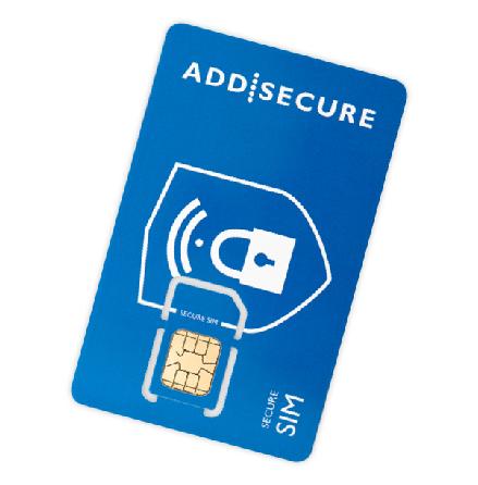 SIM-kort Addsecure datatrafik Telia max 100MB/månad