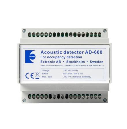 Akustisk detektor AD-600 / 230 VAC i normkapsling 6 moduler