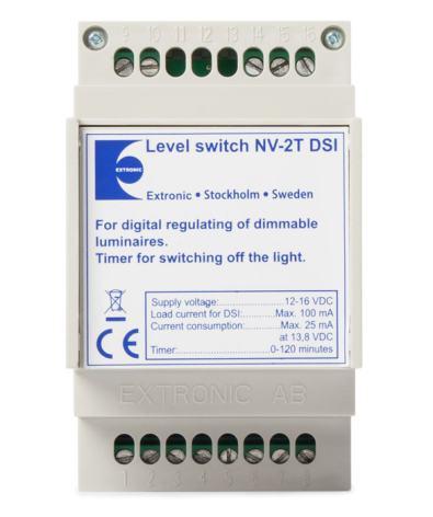 Nivåväljare NV-2T DSI med DSI-protokoll och timer