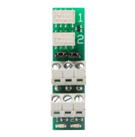 Reläkort RK-1 pluggin med 2 reläer, 1 amp vx.