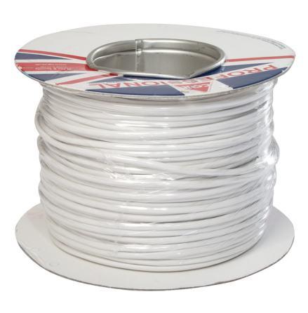 Kabel FKKB 4x0,18 vit   Minsta kvantitet 100 m